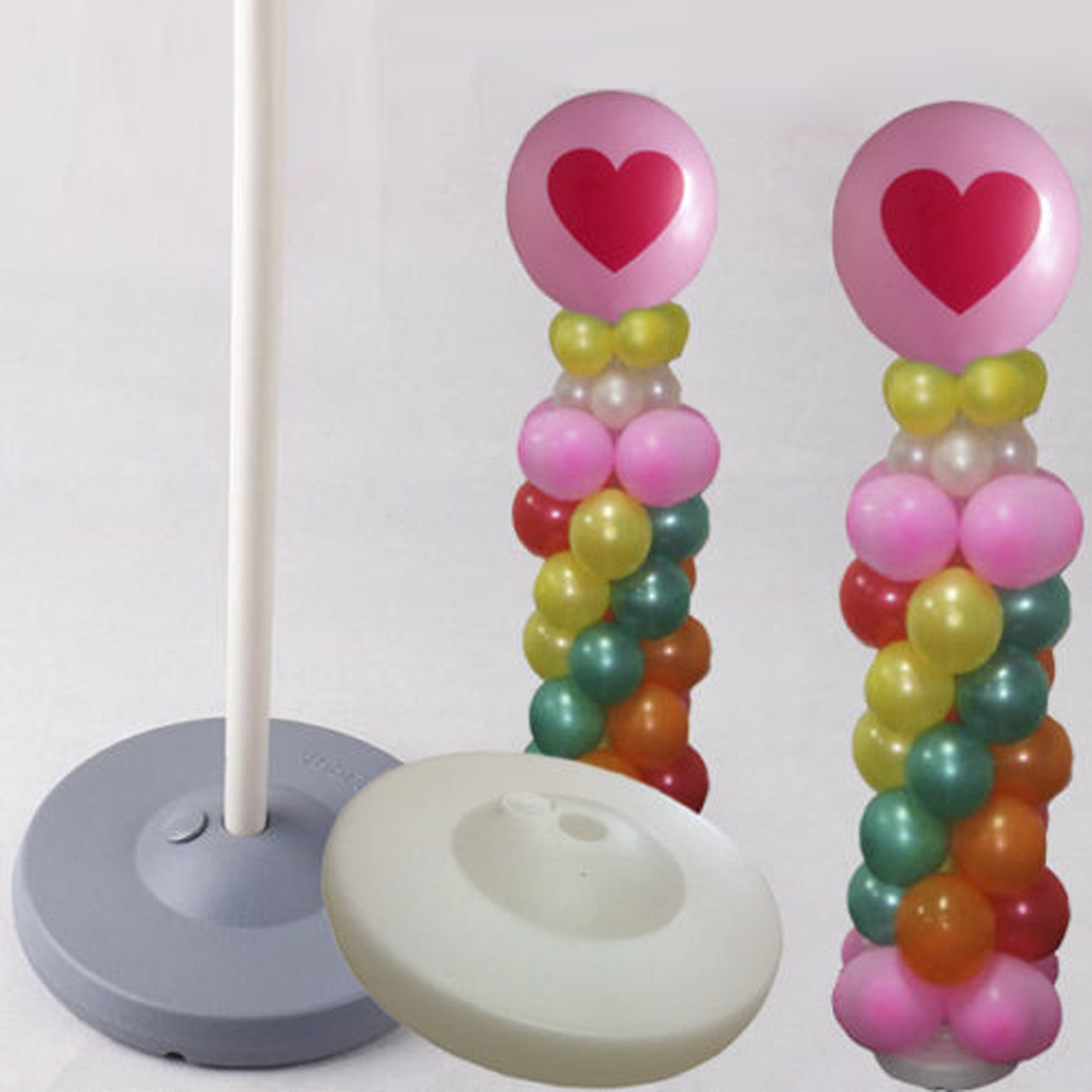 2 x balloon column arch base upright pole display stand for Balloon decoration kits