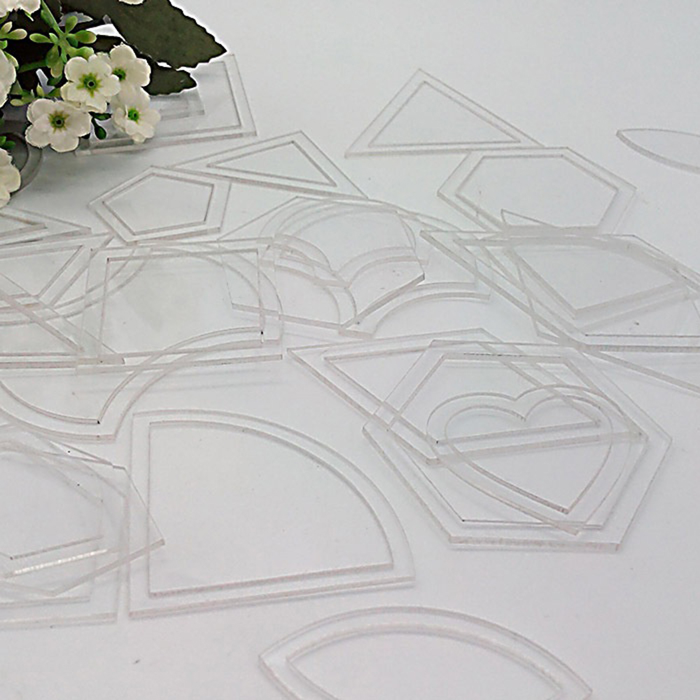 How To Use Acrylic Quilting Templates : Set of 54 Clear Acrylic Quilt Quilting Template Patchwork Ruler DIY Tool eBay